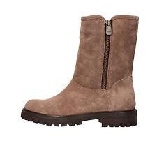 scarpe donna 1°CLASSE ALVIERO MARTINI 36 stivaletti beige camoscio AF283-F