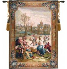 Patineurs Romantic Picture French Pastoral Wall Tapestry Figure Skating 58x44