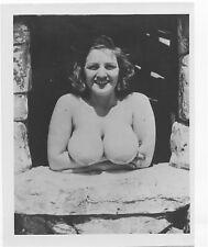 """FABULOUS 1 OF A KIND ORIGINAL 4""""X5"""" 1950's  PHOTO UNKNOWN VOLUPTUOUS MODEL MINT!"""