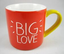 Coffee Mug Cup 'Big Love' by Happy Jackson London Colorful Red White Yellow