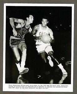 1964 NBA Basketball 8x10 Photo, Jerry West vs Oscar Robertson, All-Star Game #35