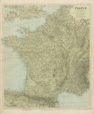France physical. Mountains & rivers. Large 66x55cm. STANFORD 1904 old map