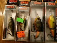 Lot Of 4 RAPALA SHAD RAP SRRS-5 AND JSR-7