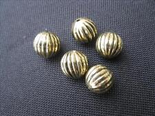 5 Perline Acrilico Rotondo Antico Oro colorate 12mm PERLE NUOVO 10256