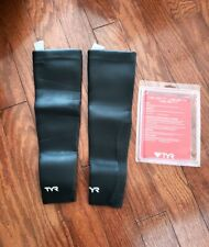TYR Neoprene Swim Wetsuit Sleeves 2MM Size L Black New in Box