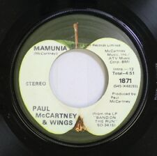 Rock 45 Paul Mccartney & Wings - Mamunia / Jet On Emi Records