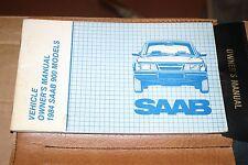 1984 Saab 900 Turbo OEM Factory Owners Manual Leather Binder USA Market Version