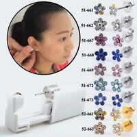 Daisies Flower Sterlized Disposable Nose Ear Piercing Device Unit Gun Piercer