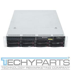 SUPERMICRO CSE-825TQ-R720LPB 1U Server Chassis 2x 720W PSU 8-Port HDD Backplane