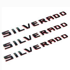 3x OEM SILVERADO Nameplate 3D Emblem Badges letter 2500HD 1500 3500 WU Red Line