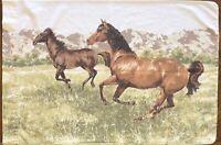 Vintage Horse Equestrian Standard Pillowcase Cotton Blend