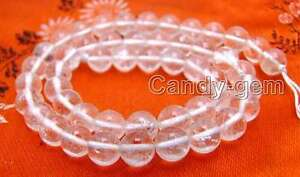 """SALE 8mm Round transparent white Natural Crystal gemstone Beads strand 15""""-lo176"""