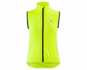 New Other Louis Garneau Nova 2 Womens Cycling Vest Bright Yellow Sz X-Lrg Yll/Bk
