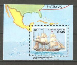 Benin Block 9 Segelschiff Landkarte postfrisch
