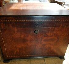 Antique Superb Quality Inlaid Burl Wood Copper Albert Dunhill Humidor