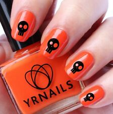 Nail WRAPS Nail Art Water Transfers Decals - Halloween Skull Face - H038