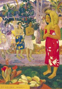 Gauguin - Hail Mary - Large A2 size 42x59.4cm QUALITY Canvas Print Unframed