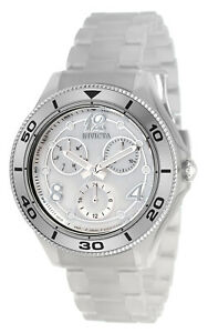 Invicta Anatomic 30367 40MM Silver Dial Chronograph Quartz SS Bracelet Watch NEW