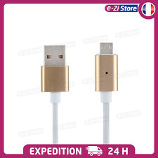 CABLE USB CHARGEUR MICRO MAGN�‰TIQUE POUR SAMSUNG GALAXY LG SONY XPERIA