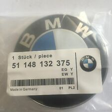 BMW BLUE WHITE LOGO 82MM (3 1/4 IN) HOOD ORNAMENT EMBLEM BADGE 2 PIN 7-Z