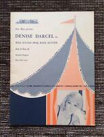 VERY RARE SIGNED Will Success Spoil Rock Hunter Souvenir Program: Denise Darcel