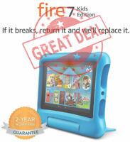 "Amazon Fire 7 HD Kids Edition (9th Generation) 2019 16GB, Wi-Fi  7"" Tablet -BLUE"