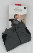 Ladies Marks & Spencer Black Zip Neck Thermal T Shirt With Merino Wool Size 18