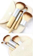 4 PZ Bamboo Handle Fondazione Polvere TERRA ABBRONZANTE CORRETTORE Kabuki Makeup Brush Set