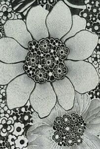 Smita Tapete Missoni M1B20002 Blumen Blüten Stoffoptik gestickt Vinyltapete