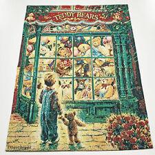 Christmas Teddy Bears Tapestry Wall Hanging ~ Artist, Stewart Sherwood