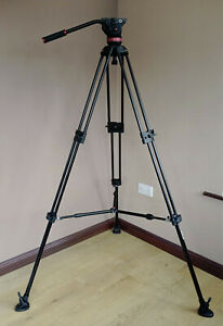 Manfrotto 546B tripod with mid spreader and 502A fluid head