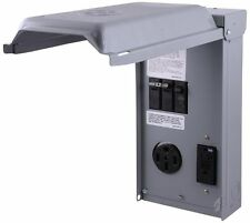 RV Power Pedestal GE 70 GFCI 20 & 50 Amp Breaker Receptacle Outlet Box 240 Volt