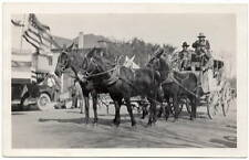 Real Photo Postcard Stage Coach in a Parade in Phoenix, Arizona~106051