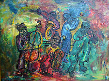 Theresa Bernstein 1895-2002 New York Painting Band Jazz Oil on Board