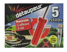 LE DETAUPEUR LOT 5 PETARDS RECHARGE anti taupes rat taupier taupe