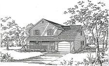 3-5 Bdrm 2 3/4 Bath 1760 SF / 1 Car Garage Colonial Style House Building Plan
