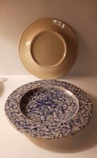Italian Blue Spongeware/Spatterware Plate/Bowl as sold by Graham & Green London