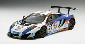 Mclaren 12c Gt3 #23 Gulf United Autosport 2nd Place Gp Macao 2013 1:18 Model