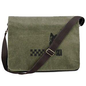 Unisex Ska Man Vintage Canvas Dispatch Bag With Embroidered Logo.Ska. Two Tone