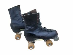 Vintage BETTY LYTLE Styled by Hyde CLEVELAND Men's leather Roller Skates Sz 9.5