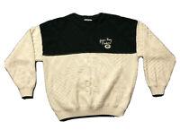 VTG 90s Lee Sport Green Bay Packers Script NFL Football Sweater Sz XL Made USA