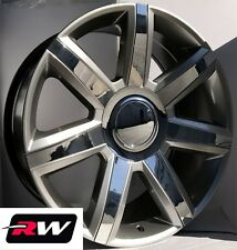 "22"" inch Cadillac Escalade Wheels 2015 2017 Rims Silver with Chrome Inserts 22x9"