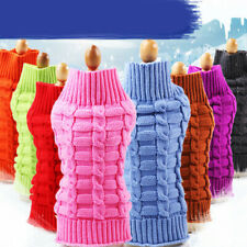 Dog Cat Sweater Small Pet Clothes Coat Teddy Chihuahua Warm  Apparel NEW 8 Color