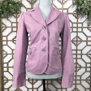Ann Taylor Loft Purple Women's Size 8 Cotton Casual Blazer Sport Coat