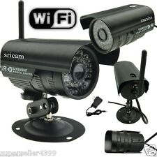 WIFI  IP CAM  Outdoor IR LED Night Vision Security Camera Waterproof black