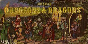 HALFLINGS SET EXC! MINIATURES GRENADIER MODELS #2002 Dungeons Dragons D&D Mini