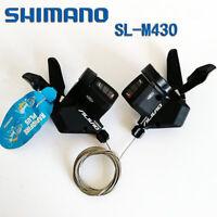 Shimano Alivio SL-M430 3/9/27 Speed MTB Bike Trigger Lever Shifter Black US New