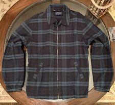 Ralph Lauren Windbreaker Gent's Size Medium Jacket Tartan Plaid Blue Pony New