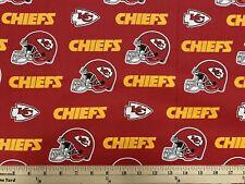 "NFL KANSAS CITY CHIEFS football, 1/4 yard (9"" x 57""), 100% Cotton Fabric, New"