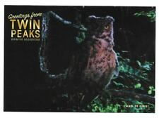 TWIN PEAKS GOLD BOX POSTCARD #35 OWL POST CARD